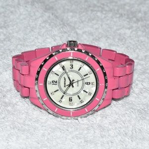 Pink Quartz Watch by Avenue